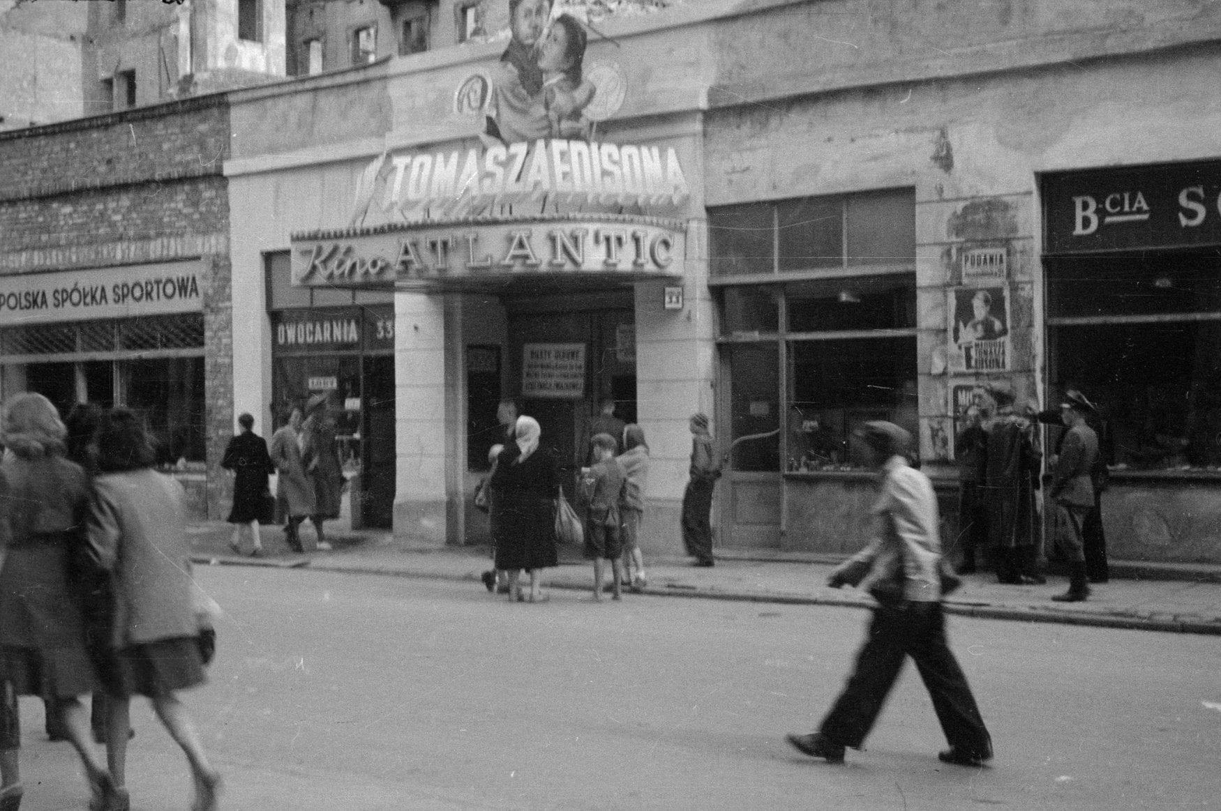 Kino Atlantic w Warszawie lata 40