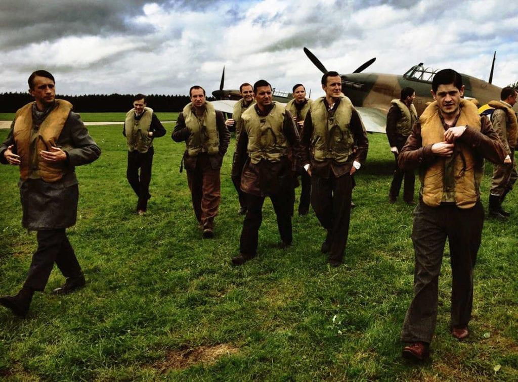 """Skład dywizjonu przy myśliwcach z filmu """"303. Bitwa o Anglię"""""""