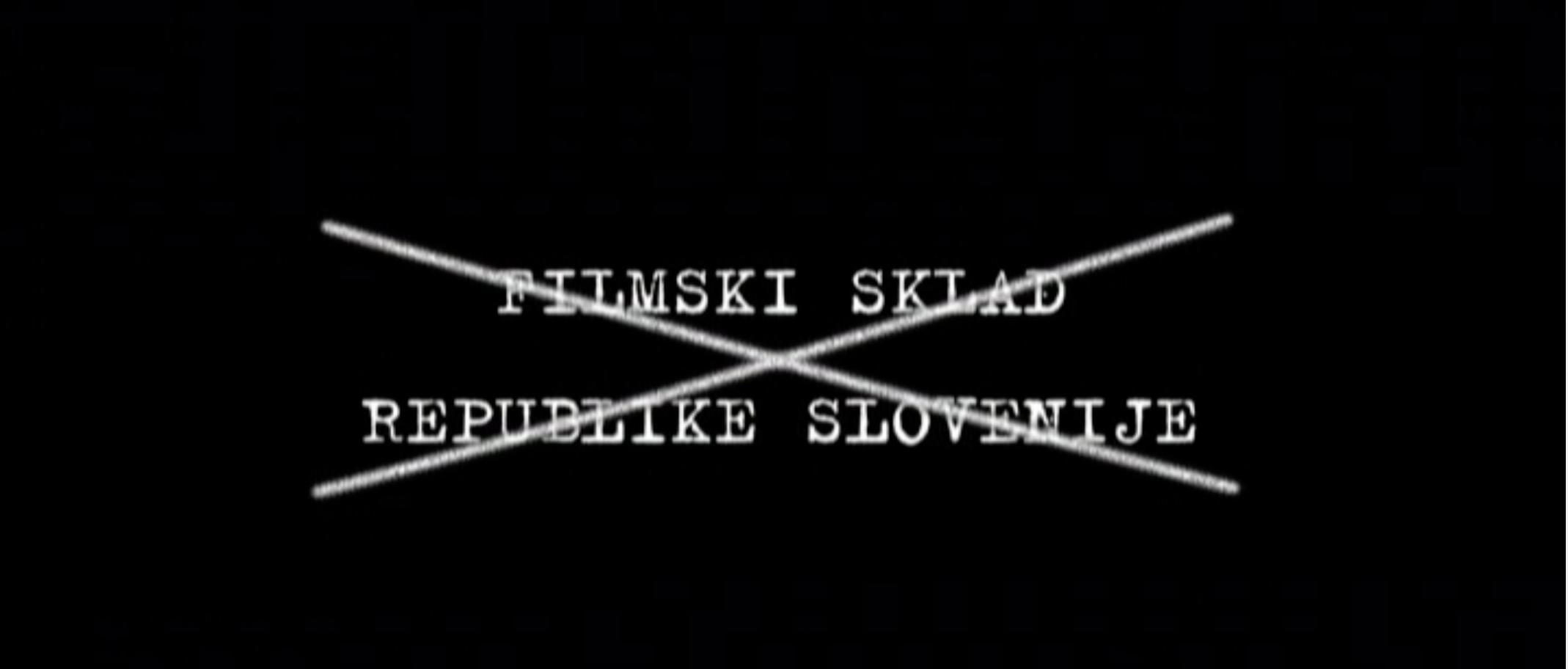 Przekreślone logo Słoweńskiego Centrum Filmu